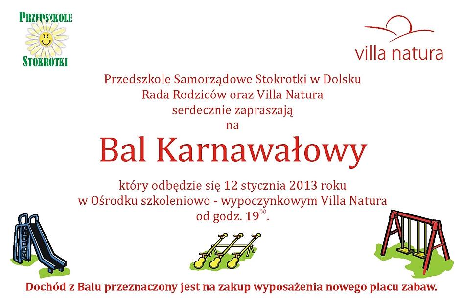 Zaproszenie Na Bal Karnawałowy Aktualności Old Dolsk